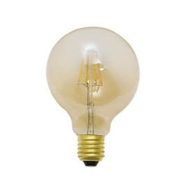 LAMPADA MINI BALLOON 4W AMBAR 127V